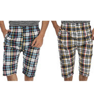 Pack of 2 Fizzaro Cotton Capris For Men_Fzbc0405 - Multicolor