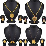 Beautiful Combo of 4 Filligeri Pendant Sets & Gold Finish Mangalsutra Set_Cm430