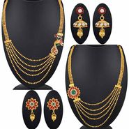 Set of 2 Spargz Jewellery Gold Plated Antique Peacock Necklace Collection Jewellery_Cm565
