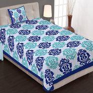 Priya Fashions Cotton King Size Jaipuri Printed 1 Single Bedsheets With 1 Pillow Covers-70X100B14