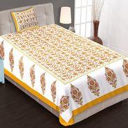 Priya Fashions Cotton King Size Jaipuri Printed 1 Single Bedsheets With 1 Pillow Covers-70X100B22