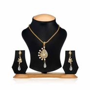 Oleva Ladies Kundan Set_OKP36 - Gold & Silver