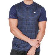 Nike Printed Regular Fit Tshirt_Nikeny - Navy Blue