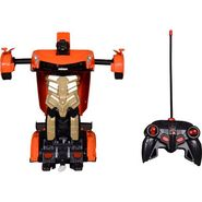 One Key Deformation Remote Control Robot Car - Orange