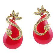 Kriaa Austrian Stone Resin Finish  Earrings _1305730