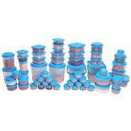 Asian Unique Multipurpose Food Grade Virgin Plastic Container (60 PCS Combo Set) Blue