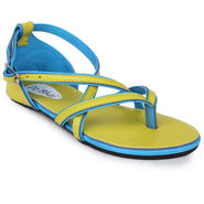 Do Bhai Faux Leather Flats 201-Yellow