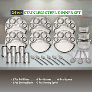 24 Pcs Stainless Steel Dinner Set
