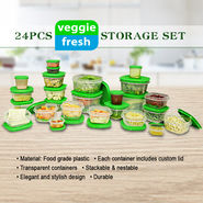 24 Pcs Veggie Fresh Storage Set