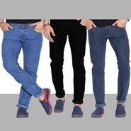Pack of 3 Fizzaro Cotton Regular Fit Jeans_Fc123