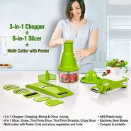 3-in-1 Chopper + 6-in-1 Slicer + Multi Cutter with Peeler