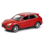 RMZ Porsche Cayenne Turbo Matte Red Pullback Diecast Toy Car