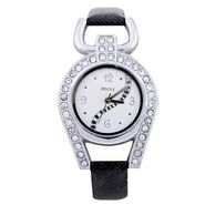 Adine Round Dial Analog Wrist Watch For Women_37bs01 - Silver