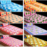 3D - 100% Cotton 4 Double & 4 Single Bedsheets (4DSBS9)