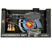 Kids Pistol Crossbow Archery Toy With Darts & Dart Board