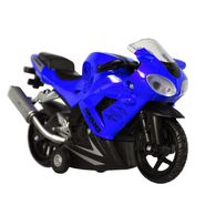 Little Stunts Die Cast Metal Toy Bike For Young Kids - Blue