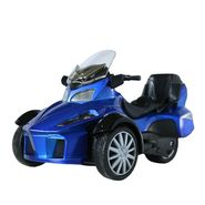 3-Wheel ATV Die Cast Metal Bike Toy For Growing Kids - Blue
