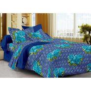 meSleep 100% Cotton Blue 1 Double Bed sheet 2 Pillow cover-45059-2