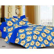 meSleep 100% Cotton Blue 1 Double Bed sheet 2 Pillow cover-45062-2