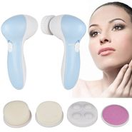 5 in 1 Face Massager & Cleaner - Blue