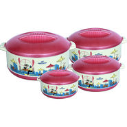 Princeware Elite Casserole Set Of 4-Pink_7033-4 -PK