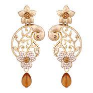 Vendee Fashion Stylish Earrings - Brown