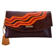 Arpera Genuine Leather Clutch 88A-2F -Brown