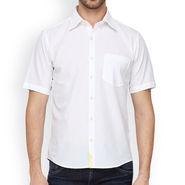 Crosscreek Half Sleeves Cotton Casual Shirt_323 - White