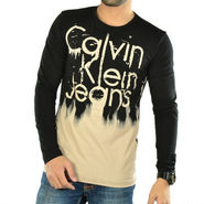 Full Sleeves Printed Cotton T Shirt For Men_9825_Black - Black