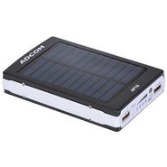 Adcom AP19 11000mAh Solar Power Bank - Blue