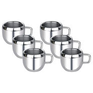 Aoito Double Wall Apple Set of 6 Stainless Steel Mug_APPL-AOI-6