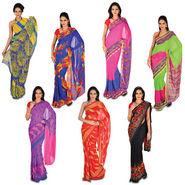 Set of 7 Aaradhya Georgette Sarees