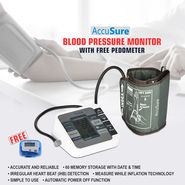 AccuSure Blood Pressure Monitor with Free Pedometer