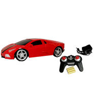 AdraXx 1:24 Scale Gift Pack RC Sport Car Coupe With Rechargeable Batteries - Red
