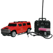 AdraXx Hummer 1:24 Scale Popular SUV RC Toy Car with Rechargeable Batteries - Red