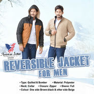 American Indigo Reversible Jacket For Men