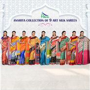 Anshita Collection of 9 Art Silk Sarees by Pakhi (9A2)