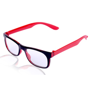 Aoito Full Rim Spectacles Frame - Black & Red_AO-2BR-6