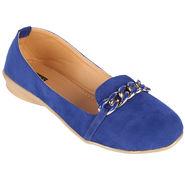 Azores Womens Blue Ballerina -Azf_4Blu