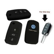 AutoStark Silicon Key Cover for Volkswagen Vento Flip Key Remote Cover