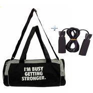 Combo of Protoner Gym Bag - I m Busy Getting Stronger With Rope