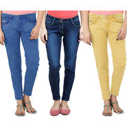 Pack Of 3 Uber Urban Stretchable Slim Fit Colored Denim