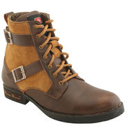 PU  Brown  Boot -ntb06