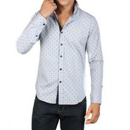 Bendiesel Cotton Casual Shirt For Men  - Grey