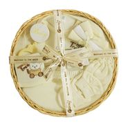Montaly Circle Shape 9 Piece Baby Gift Set - Cream
