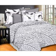 Storyat Home 100% Cotton Double Bed Sheet With 2 Pillow Covers-MT1215
