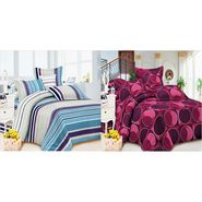 Carah Exclusive Two Bedsheets With Four Pillow Covers-CRH-DB180