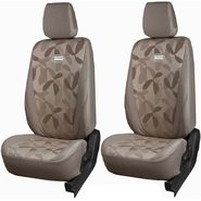 Branded Printed Car Seat Cover for Honda Brio - Beige
