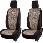 Branded Printed Car Seat Cover for Skoda Rapid - Brown