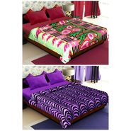 Set of 2 Polyester Double Size Printed Blanket-CA_1202-1215